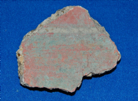A nice segment of Roman painted wall plaster (Fresco), Villa site Cambridgeshire (No.3), SOLD